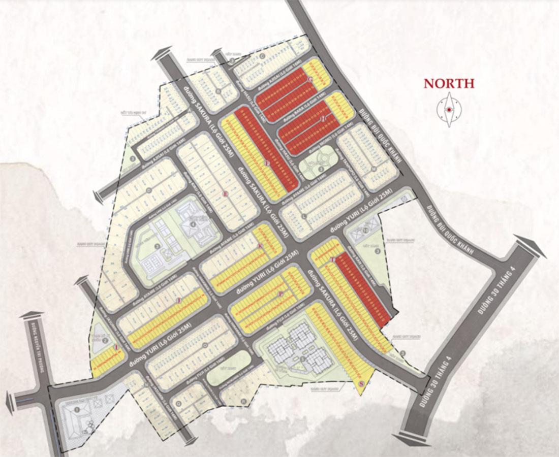 Mặt bằng tổng thể dự án Takara Residence