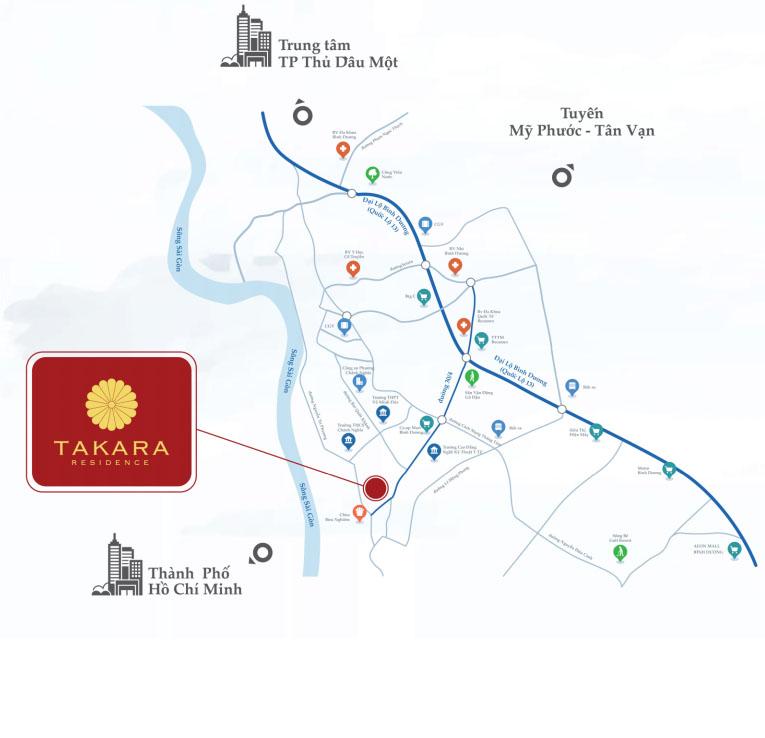 Vị trí dự án takara residence